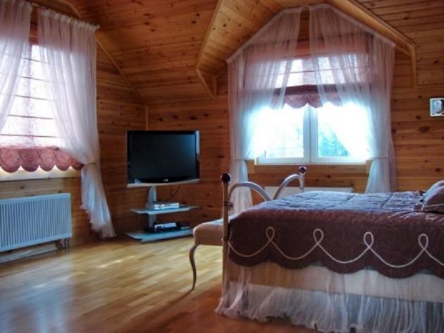 Прозрачные шторы для спальни