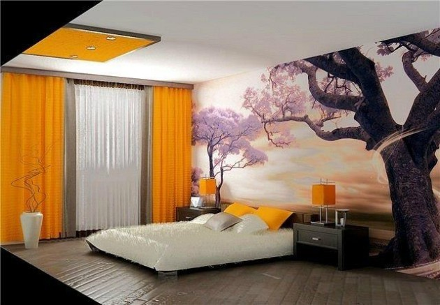 Тропические фотообои для спальни