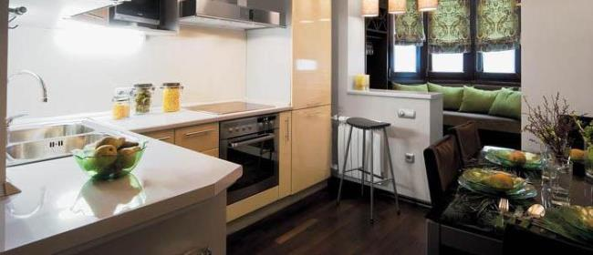 Оригинальный дизайн кухни и балкона: отделка, утепление, осв.