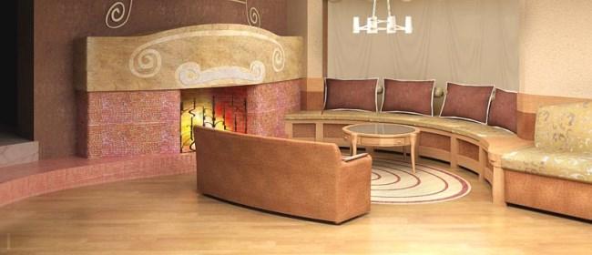 Дизайн гостиной с камином (фото)
