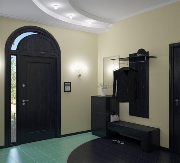 Дизайн прихожей с многоуровневыми потолками