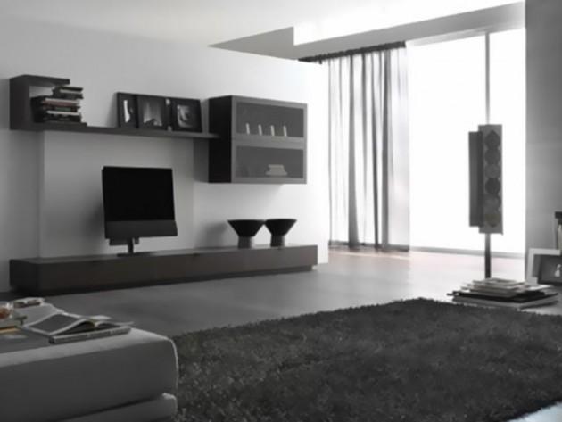 Цветовое оформление гостиной в стиле хай-тек