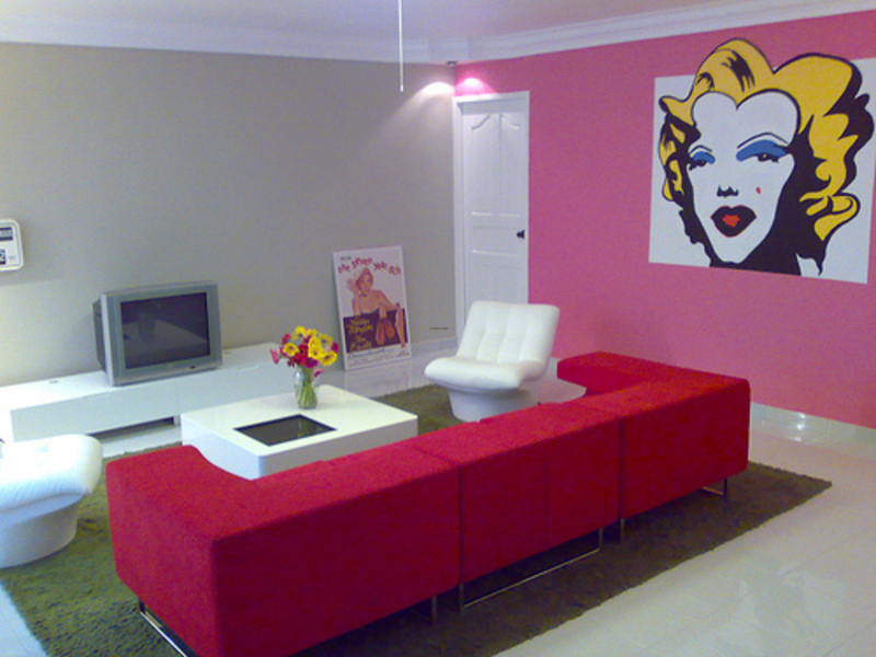 pop art interior design, pop art