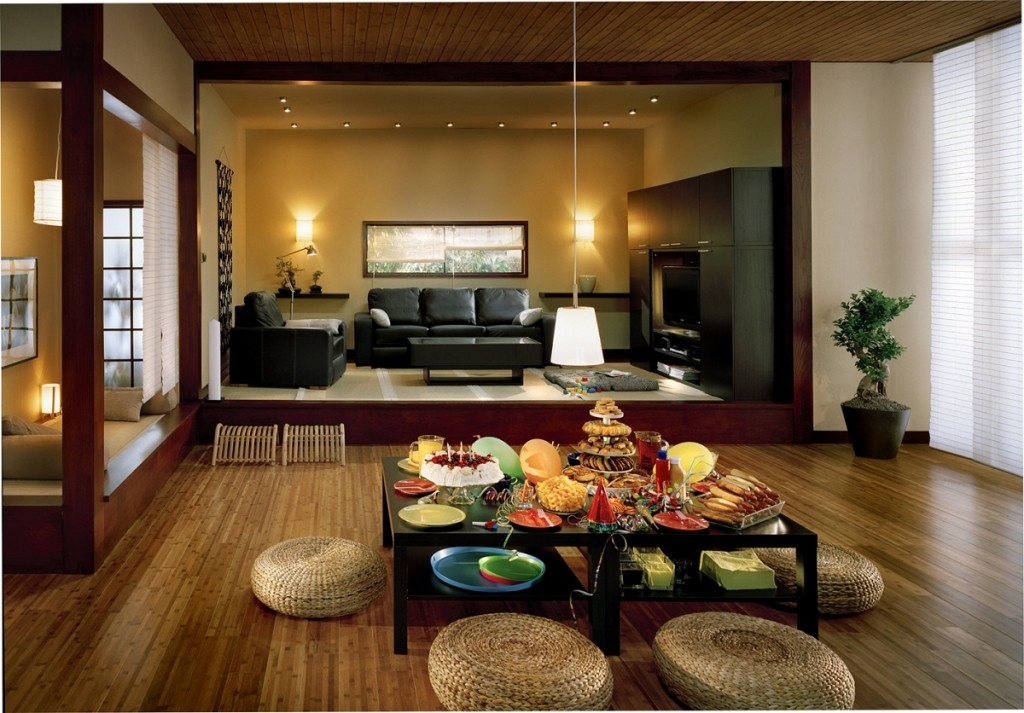 exotic-family-room-design-with-lighting-japanese-style