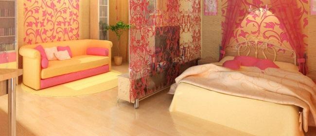 Дизайн гостиной-спальни: зонирование, мебель, освещение