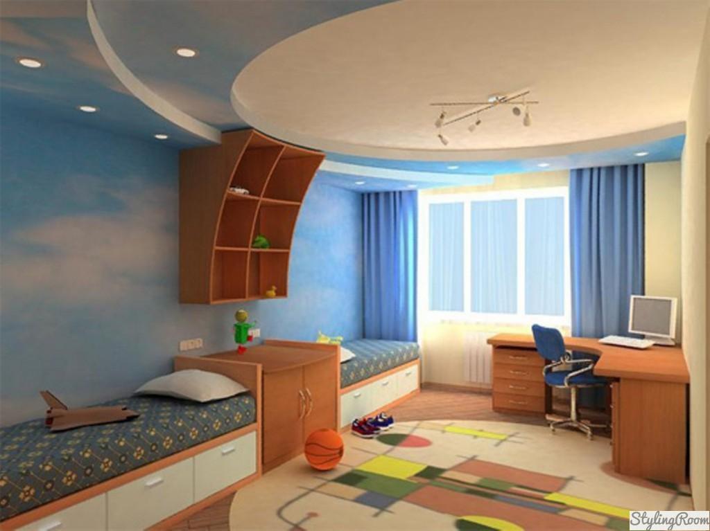 Спальные зоны можно выполнить в одной цветовой гамме, а можно и выделить с помощью зонирования