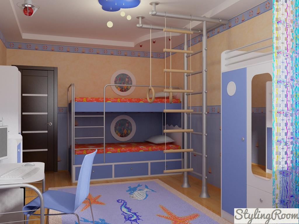По возможности поместите в комнате малыша спортивные снаряды и тренажеры
