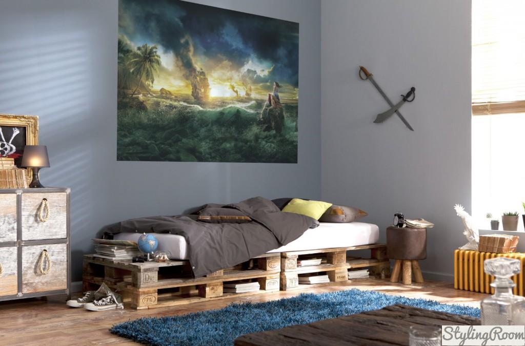 Оформление комнаты в пиратском стиле по вкусу многим мальчикам-подросткам