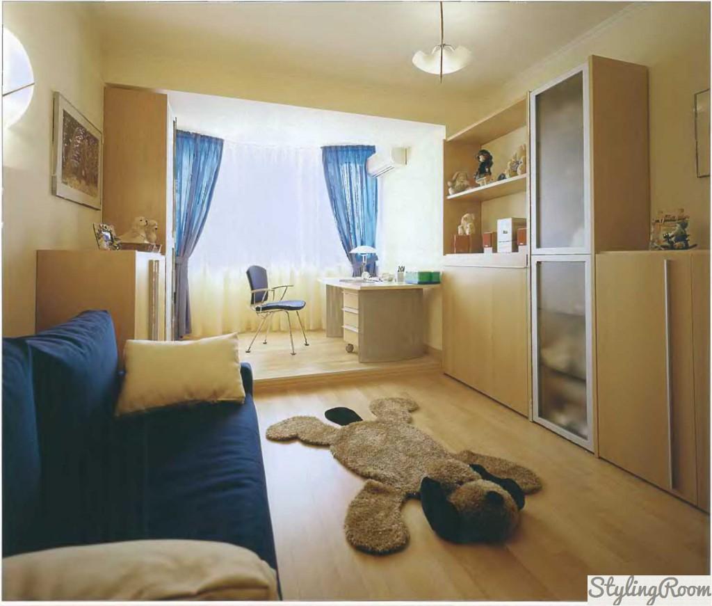 Дизайн комнаты 19 квм с балконом