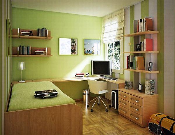 изумительная идея для зеленной спальни девочек