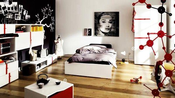 Модный дизайн спальни для девушки