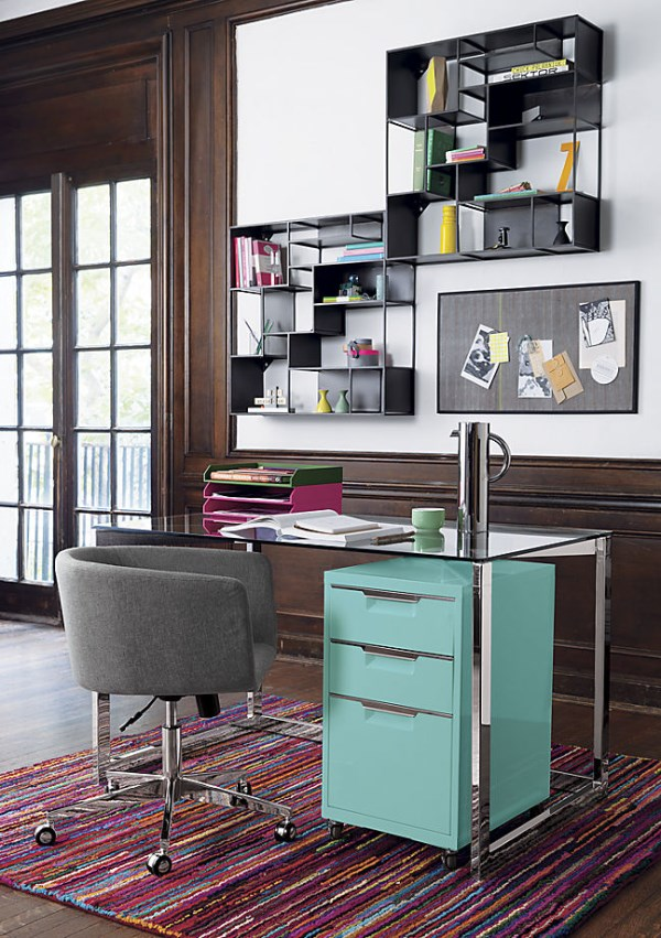 Chic-tidy-work-area-featuring-items-from-CB2