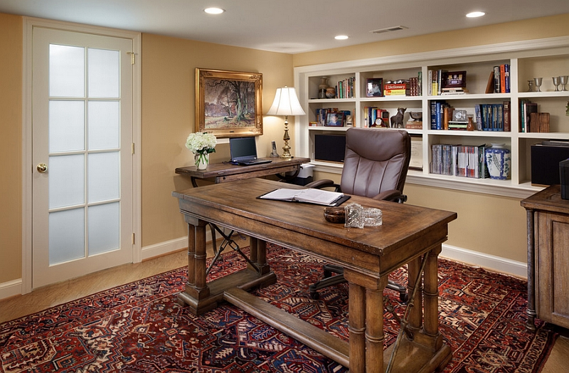 Small-basement-home-office-design-and-decorating-idea