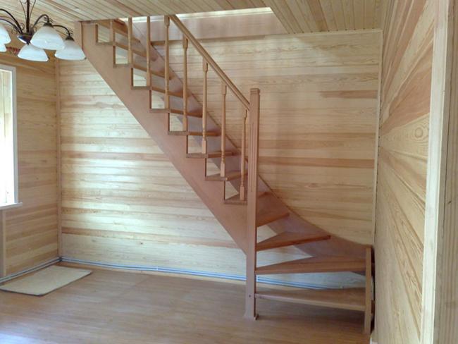 Лестницы в частных домах своими руками фото