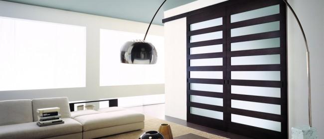 Раздвижные межкомнатные двери в интерьере (35 фото)