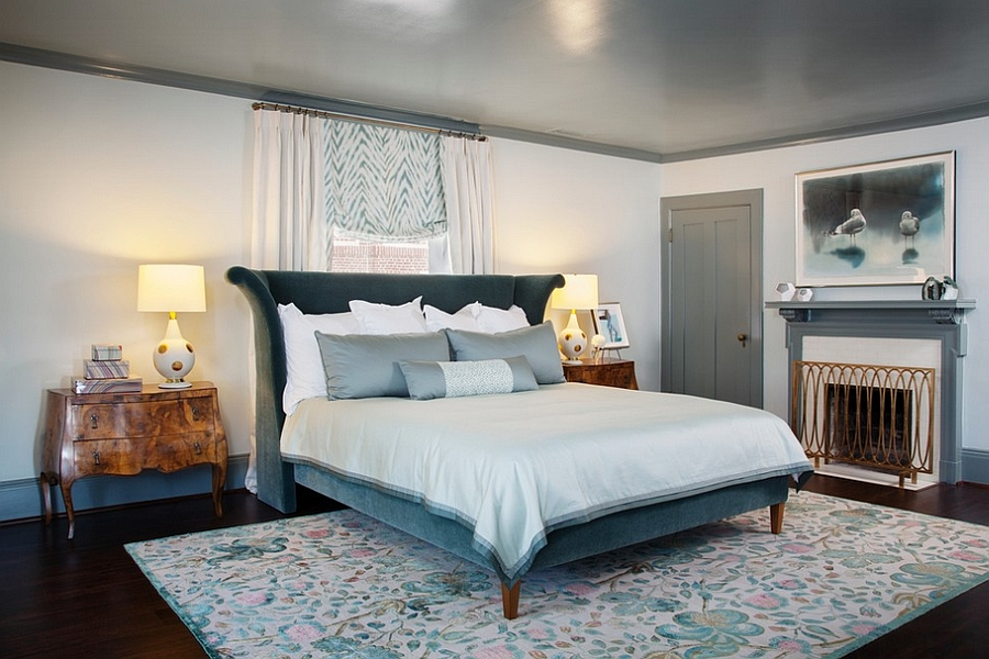 Stylish-bed-and-French-inspired-motifs-give-the-room-a-distinct-look