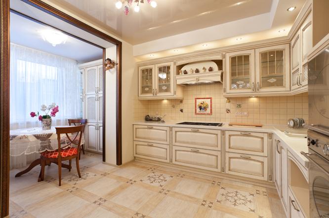 Кухня совмещенная с лоджией расширяет пространство