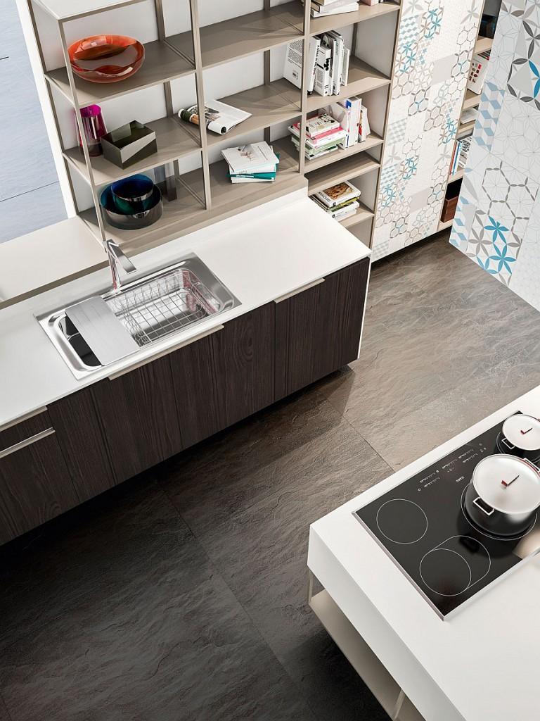Усовершенствованная современная кухня, созданная в лучших традициях итальянского дизайна интерьера.