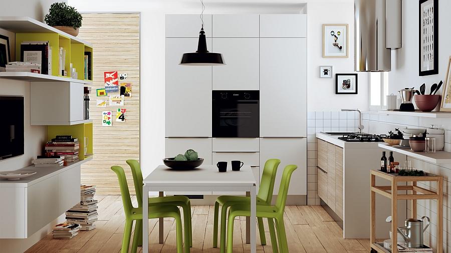 Маленькая кухня модели «Эволюция» является гармоничным продолжением жилых зон квартиры или дома.