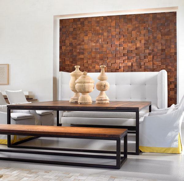 Украшение стены гостиной мозаикой от Beckwith Interiors