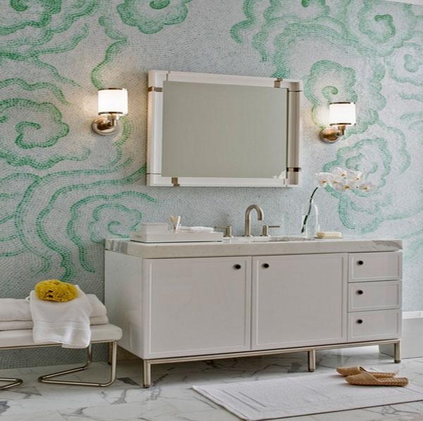 Мозаичные стены ванной комнаты от Kallista.