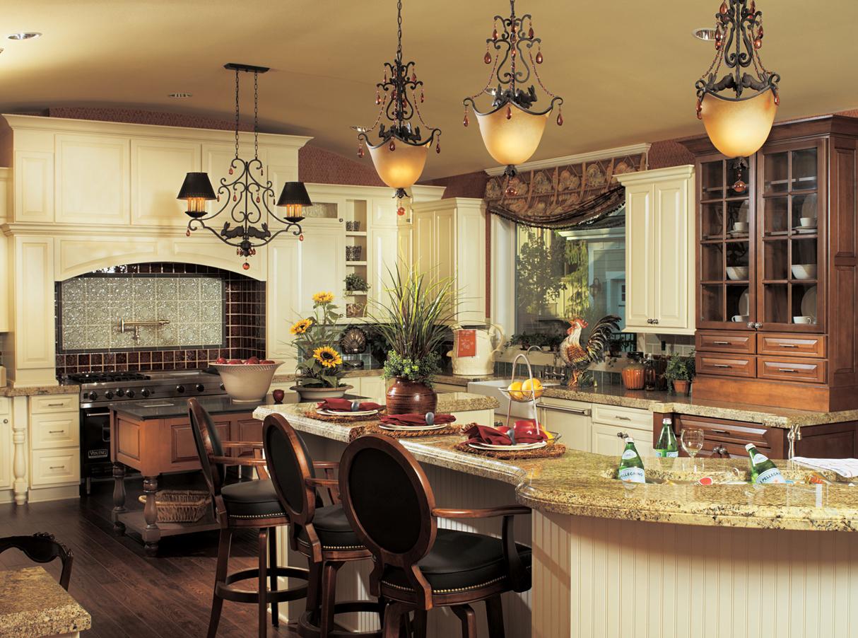 Кухни в деревенском стиле смотрятся весьма необычно и даже экстравагантно