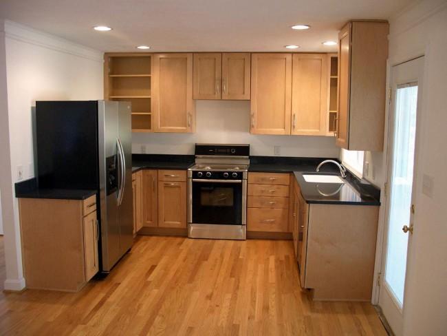П-образная планировка - одно из самых удачных решений для маленькой кухни