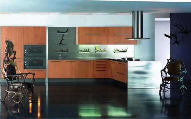 Стиль угловой кухни должен соответствовать стилю всего помещения