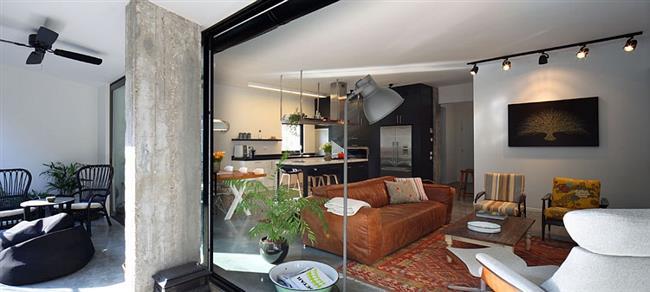 Апартаменты в Тель-Авив, которые ранее были 2 квартирами.