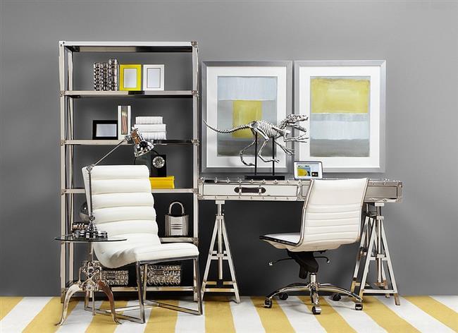 Стильный и оригинальный домашний офис.
