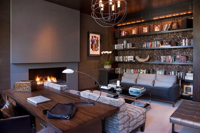 Стильный и уютный кабинет по основным принципам фен-шуй.