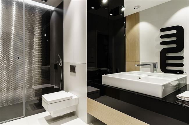 Минималистический стиль в интерьере ванной комнаты.