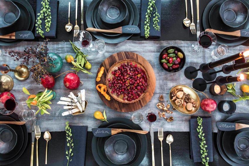 Праздничный стол от дизайнера Асены Калдерон.