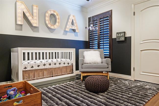 Стильная комната для «звездного» малыша.