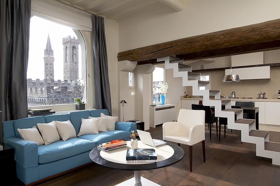Уютная гостиная с роскошным видом.