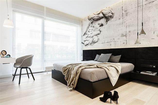 Роскошная спальня в минималистическом стиле.