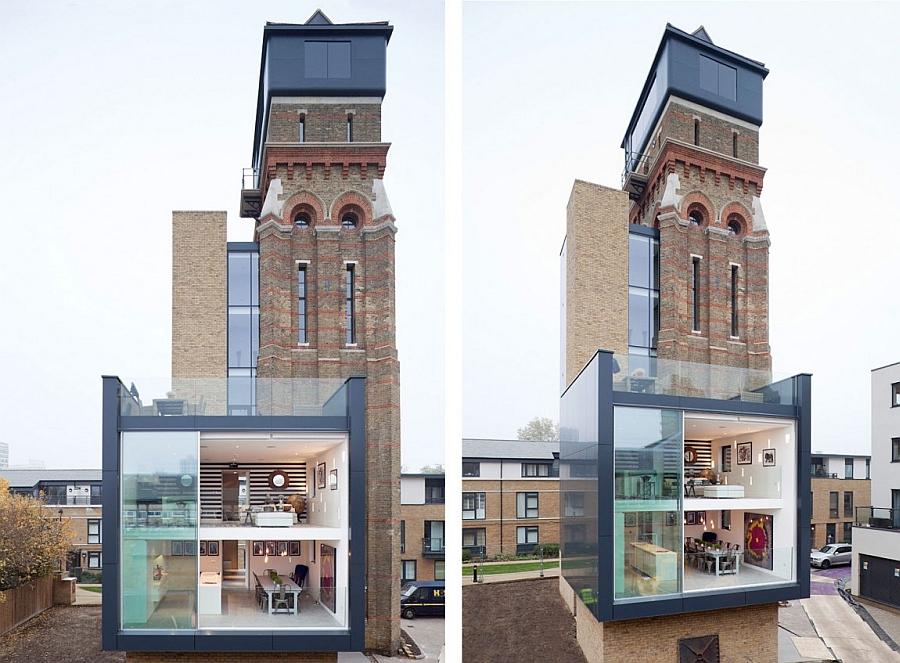 Современный дом уникальной конструкции.