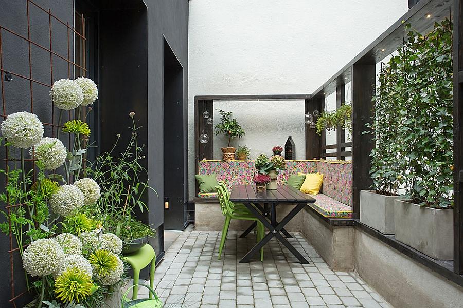 Внутренний дворик – привилегия квартиры первого этажа.