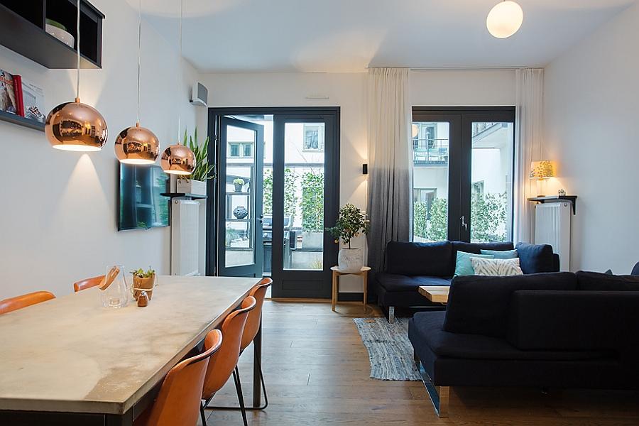 Маленькая гостиная в скандинавском стиле.