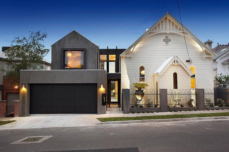 А вот так мельбурнский дом выглядит с улицы.