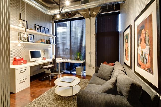 Комфортный офис в индустриальном стиле.