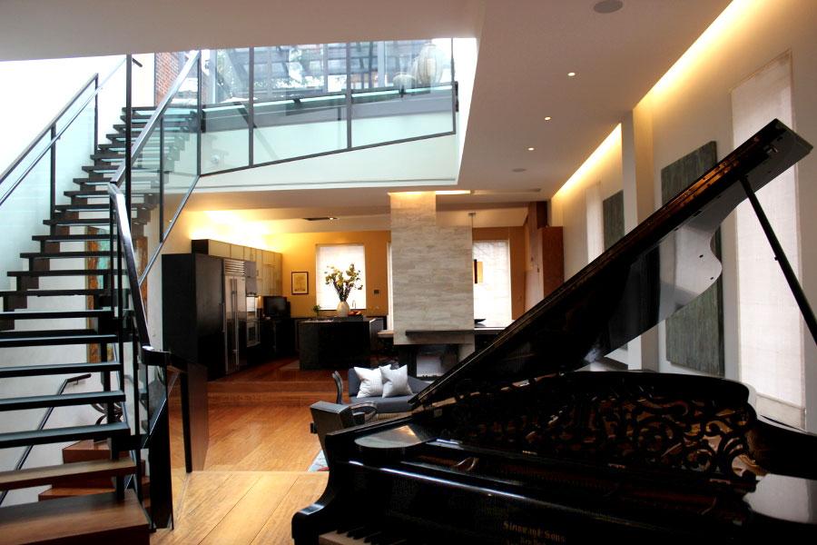 Нижний этаж манхэттенского особняка.
