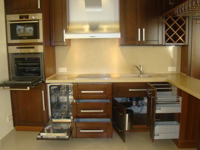 Кухня для встроенной техники своими руками