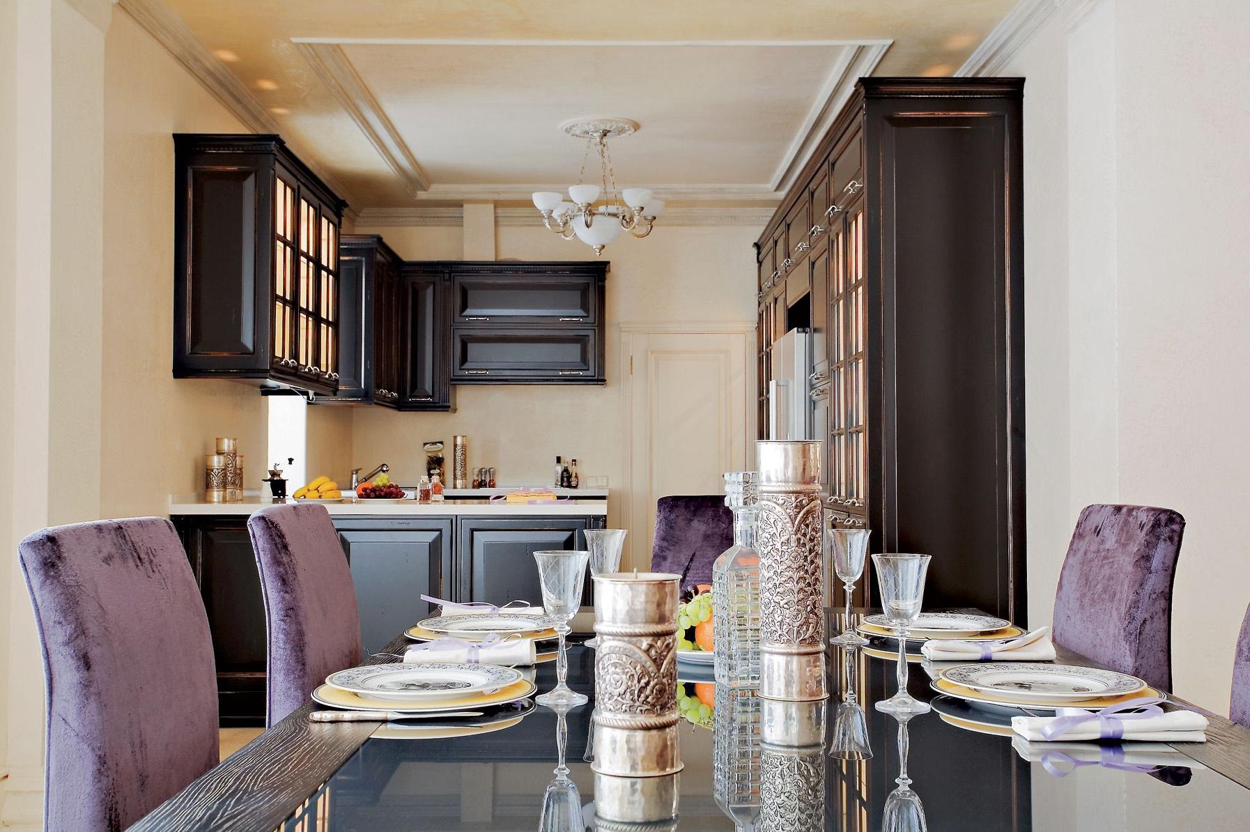 Восточный стиль на кухне создает атмосферу уюта и изыска