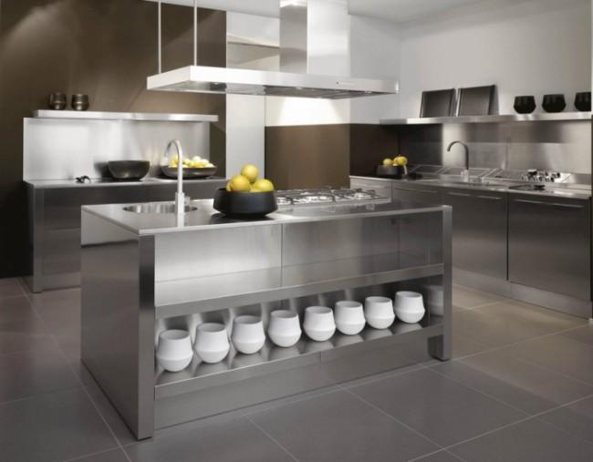 Для современной кухни огромное значение имеет простор