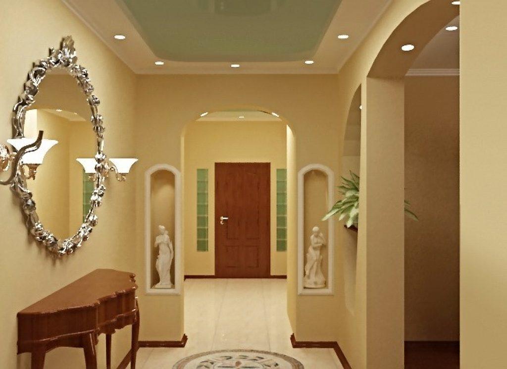 Дизайн арки из гипсокартона дизайн интерьера в прихожей в домах