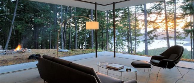 Загородный дом: 10 стильных комнат с потрясающими видами из окна