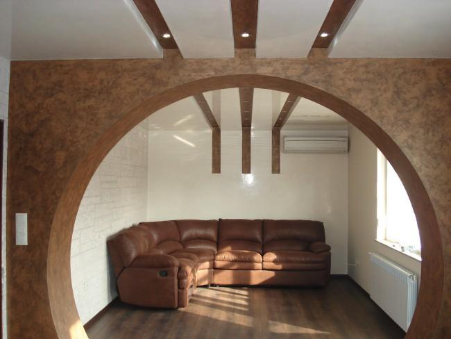 Арки из гипсокартона должны соответствовать общему стилю помещения
