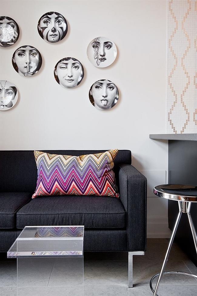 Тарелки с портретами Лины Кавальери от итальянского художника.