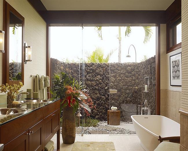 Рациональная организация пространства в маленькой ванной.
